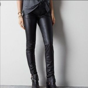 American Eagle faux leather jeggings